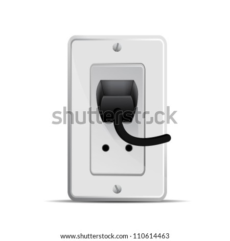 electric socket - stock vector