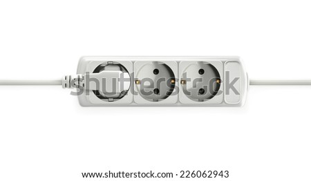 Electric socket, vector object - stock vector