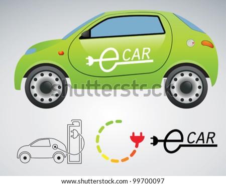 electrical car - stock vector