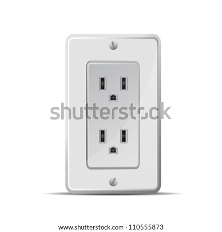 Electrical Outlet - stock vector