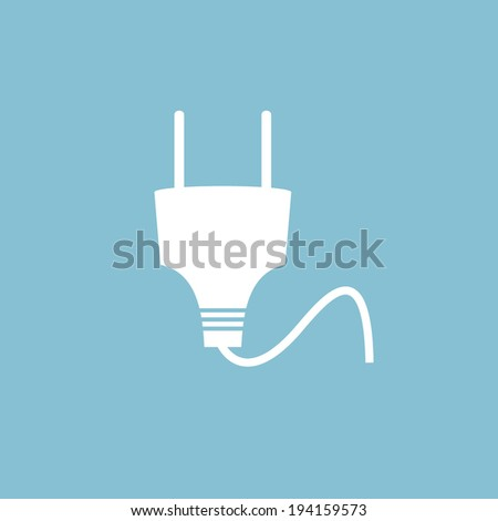 Electrical plug icon - stock vector