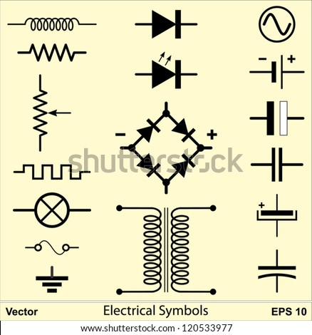 electrical symbols - stock vector