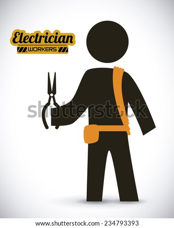 electrician  design , vector illustration - stock vector