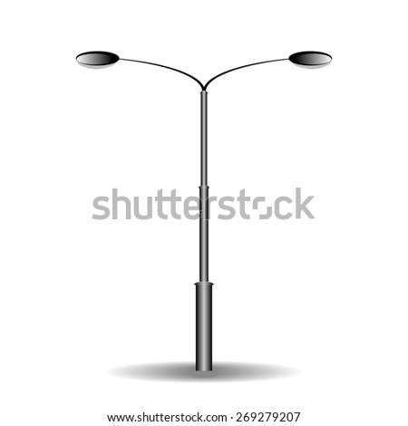 electricity street lamp - stock vector