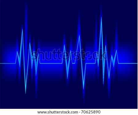 Electrocardiogram - stock vector