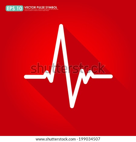 Electrocardiogram, ecg or ekg - medical vector icon - stock vector