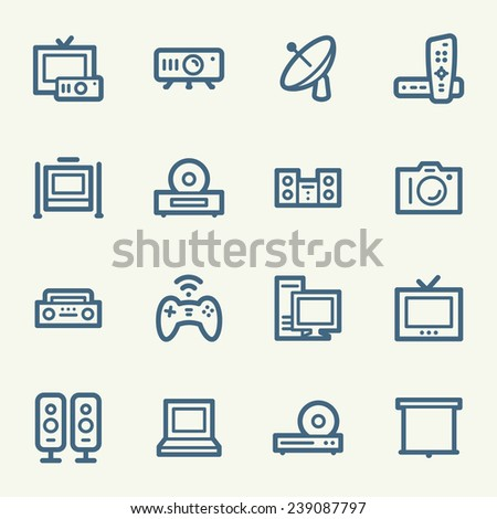 Electronic Appliances Web Icons - stock vector