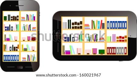 electronic book - stock vector