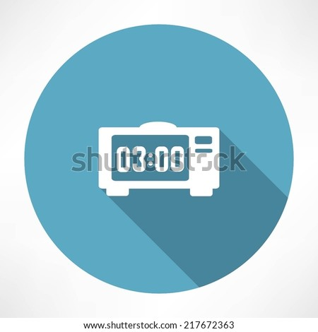 electronic clock icon - stock vector