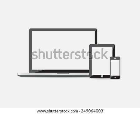 Electronic device isolated on white background. Vector illustration EPS10 - stock vector