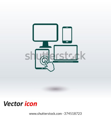 Electronic Devices. Smartphone computer tablet netbook simbol. - stock vector