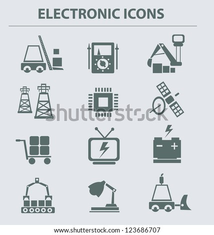 Electronic icons,vector - stock vector