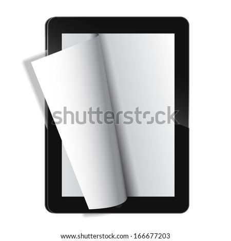 Electronic journal template vector - stock vector