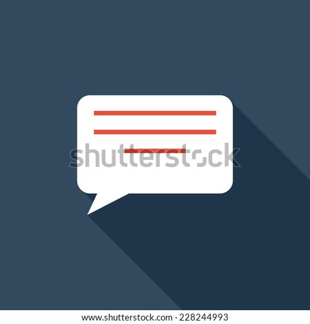 Electronic message flat icon. Modern flat icons with long shadow effect in stylish colors. Icons for Web and Mobile Application. EPS 10. - stock vector
