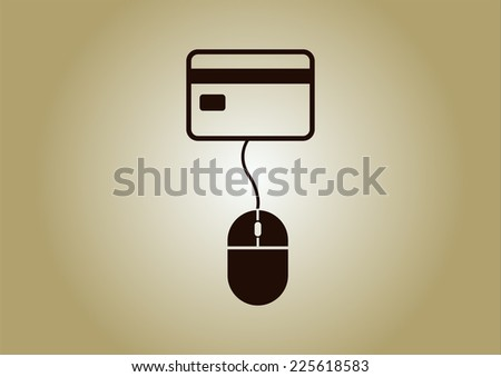 electronic money - stock vector