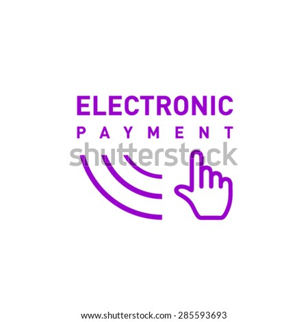 Electronic payment icon design concept - stock vector