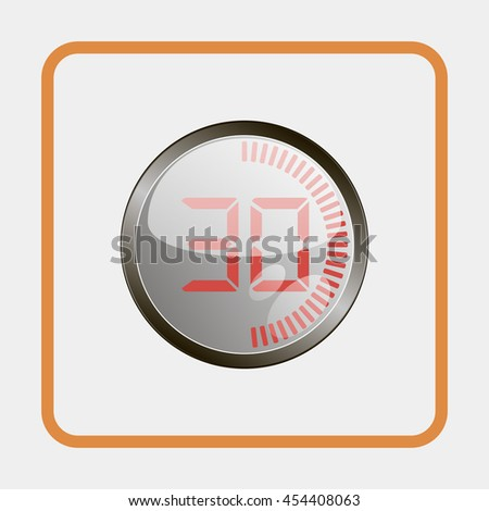 Electronic timer 30 seconds. - stock vector