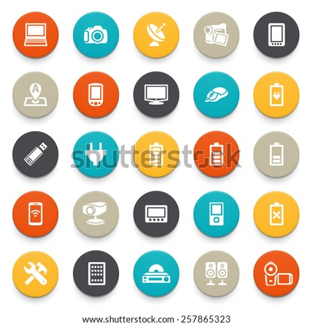 Electronics icons. - stock vector