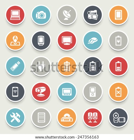 Electronics vector icons. - stock vector