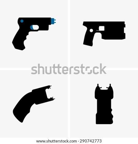 Electroshock weapons - stock vector