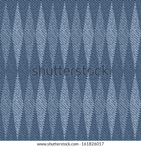 Elegance seamless pattern with denim jeans background. - stock vector