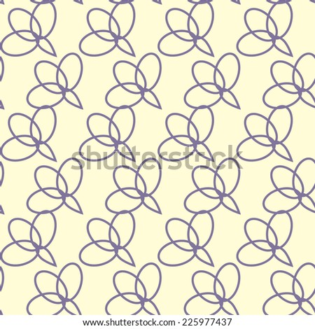 Elegance Seamless pattern with violet ellipses, vector illustration. Bright print for textiles - stock vector