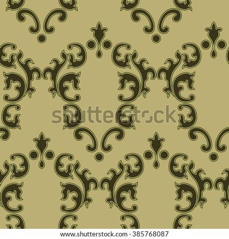 Elegance Vintage Seamless background.  - stock vector