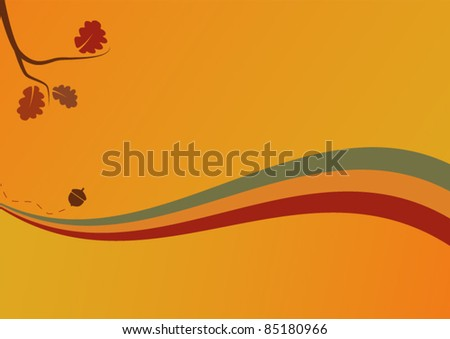 Elegant autumn background with leaves - stock vector