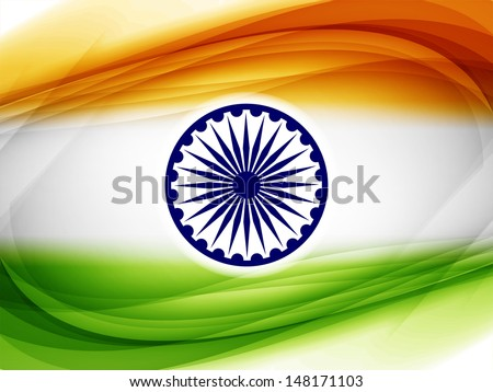 Elegant background design for Indian republic day and independence day. vector illustration  - stock vector