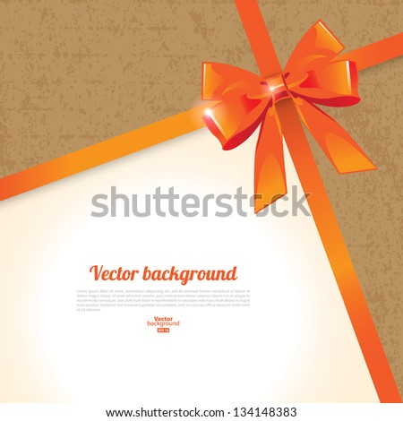 Elegant background with bow - stock vector