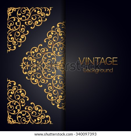 Elegant background with lace ornament and place for text. Vector illustration. - stock vector