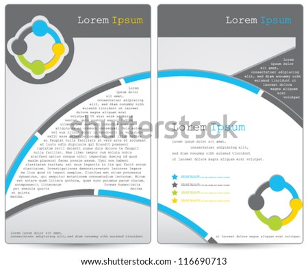elegant business brochure design - stock vector