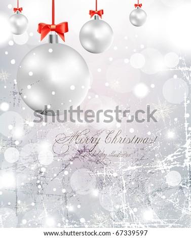 Elegant Christmas Background. Eps10. - stock vector