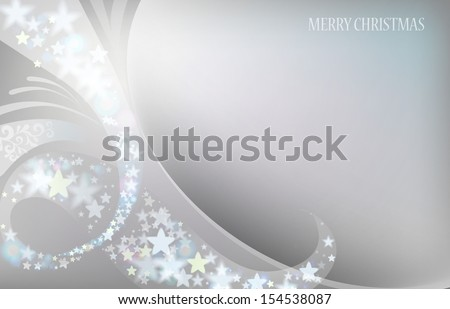 Elegant christmas background with abstract ornament. Vector illustration - stock vector