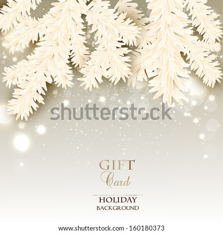 Elegant Christmas background with place for text . Vector illustration - stock vector