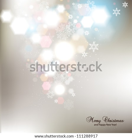 Elegant Christmas background with snowflakes and place for text. Vector Illustration - stock vector