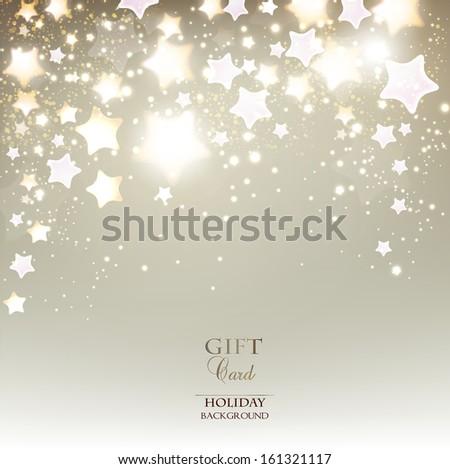 Elegant Christmas background with stars. Vector illustration - stock vector