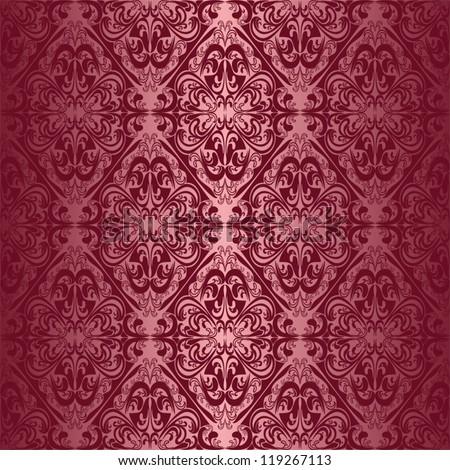 Elegant claret seamless wallpaper. - stock vector
