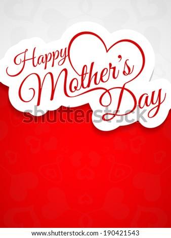 Elegant creative background design for mother's day. vector illustration - stock vector