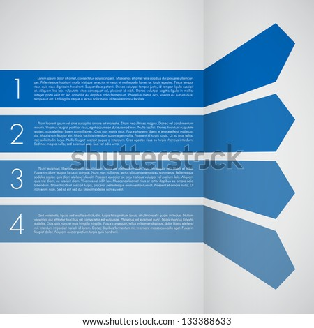 Elegant EPS10 Vector Infographics - stock vector