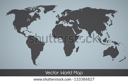 Elegant EPS10 vector World Map - stock vector