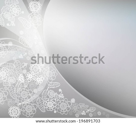 Elegant floral background with lace ornament. Vector illustration - stock vector