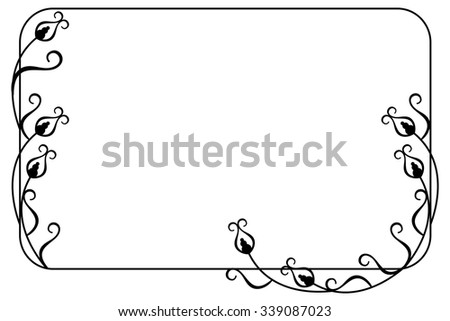 Elegant frame with floral ornament - stock vector