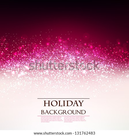 Elegant  Holiday Red background with place for text. Vector Illustration. - stock vector