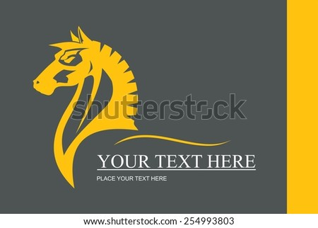 elegant horse head. symbolizing power, strength, dignity, etc.Suitable for team Mascot ,community identity, product identity, corporate identity, illustration for apparel, clothing, illustration, etc  - stock vector