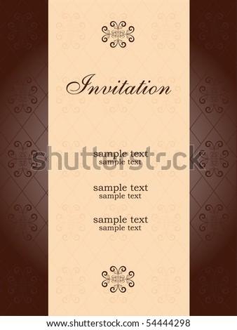 elegant  invitation - stock vector