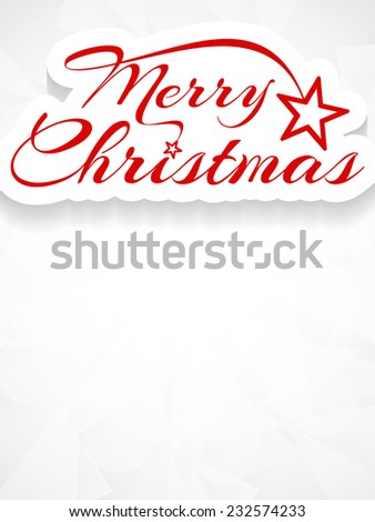 Elegant Merry Christmas vector card design. - stock vector