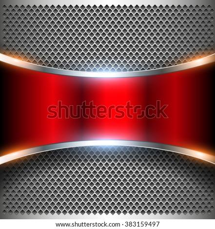 Elegant metallic background. - stock vector