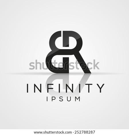 Elegant minimal letter symbol. Alphabet E and R logo design. Vector illustration. - stock vector
