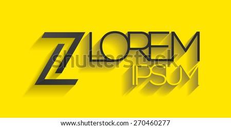 Elegant minimal letter symbol. Alphabet Z or double seven logo design. Vector illustration. - stock vector